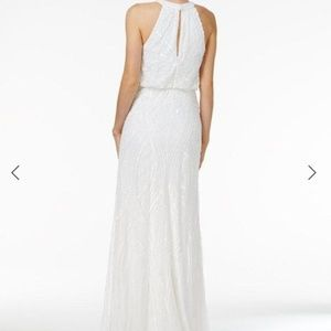 Adrianna Papell Ivory Beaded Gown